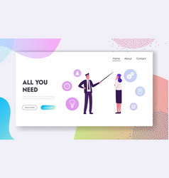 corporate education presentation meeting kyc vector image