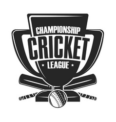 Cricket championship league vector