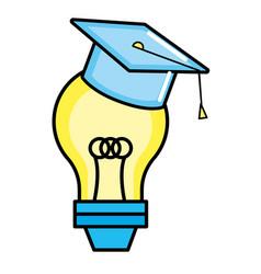 cute light bulb cartoon vector image