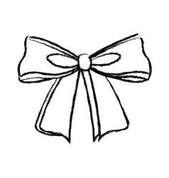 Decorative bow ribbon christmas decoration element vector