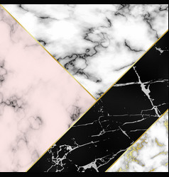 different marble textures combined into one vector image