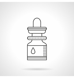 Essential oil flat line icon vector image