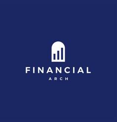 finance financial door arch niche logo icon vector image