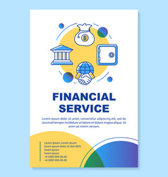 Financial service poster template layout vector