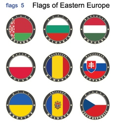Flags of Eastern Europe vector image