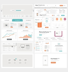 Flat UI element kit for Business templates vector