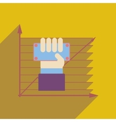 Flat web icon with long shadow economic money in vector