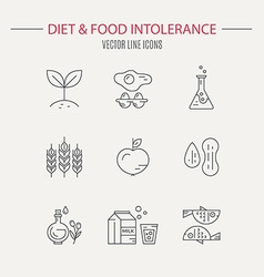 Food intolerance vector