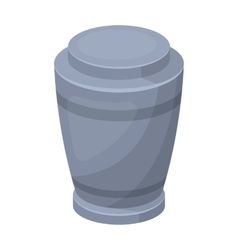 Funeral urns icon in cartoon style isolated on vector