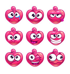 Funny cartoon pink jelly monster vector
