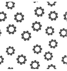 Gear seamless pattern vector