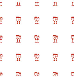 glasses clink icon pattern seamless white vector image