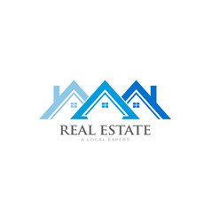 houses rowith soffit and fascia logo real vector image