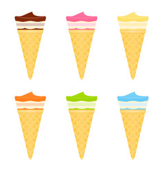 ice cream cones on white vector image