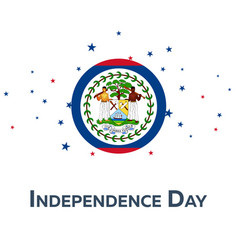 independence day of belize patriotic banner vector image