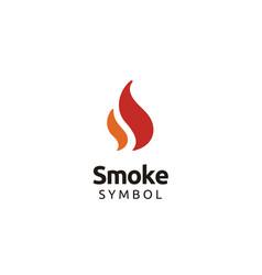 Initial ss smoke fire flame torch burn logo design vector