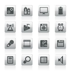 internet and office icons vector image