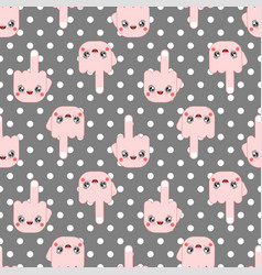 kawaii pattern seamless cute cartoon funny vector image