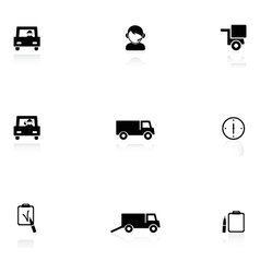 Logistics black icons vector image