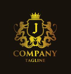 Luxury letter j logo vector