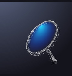 magnifying glass low poly color vector image