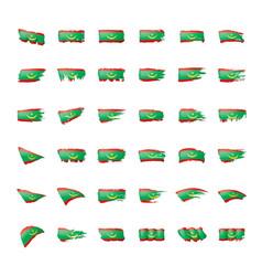 mauritania flag on a white vector image