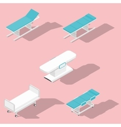 Medical couches operating and massage tables vector image