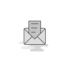 message web icon flat line filled gray icon vector image
