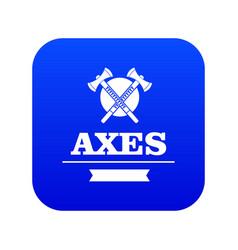 military axe icon blue vector image
