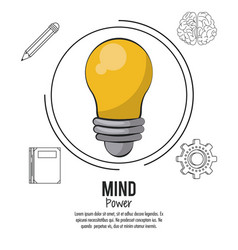 Mind power poster vector