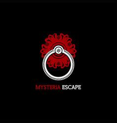 Mysteria escape logo vector