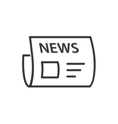 news line icon on a white background vector image