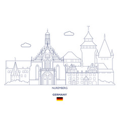 Nuremberg city skyline vector