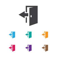 Of plaza symbol on exit icon vector