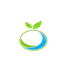 organic green leaf logo vector image