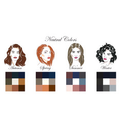 palettes with neutral colors vector image