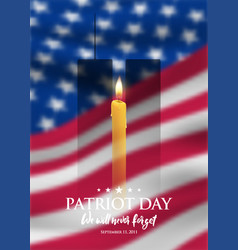 patriot day we will never forget design template vector image
