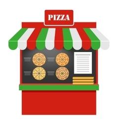 Pizza design template vector image