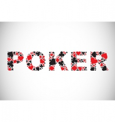 poker abstract background vector image