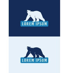 Polar Bear Logo Template vector image