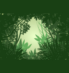 Rain forest scene vector
