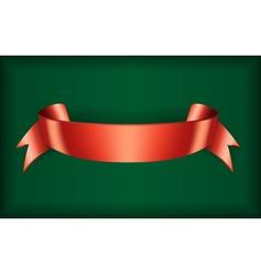 Red ribbon satin green vector