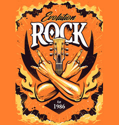 Rock poster design template vector