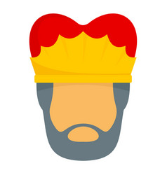 royal king face icon flat style vector image
