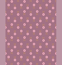 scandinavian pattern with flowers vector image