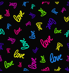 seamless pattern with randomly scattered colorful vector image