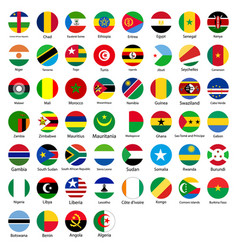 Set of african flags in the form of a circle vector