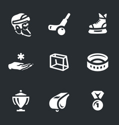 set of bandy icons vector image