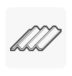 slab icon black vector image