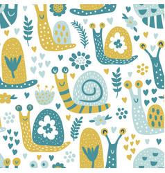 Snails pattern vector